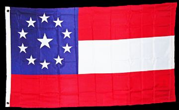 11 Star 1st National Stars & Bars Flag